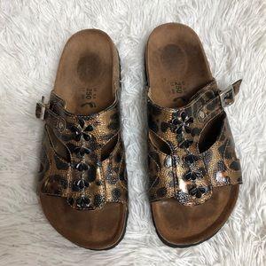 Betula Birkenstock Sandal Cheetah Jewel Slip On 8